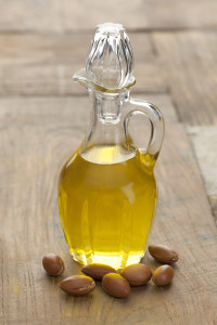 Botttle of Moroccan Argan oil and nuts