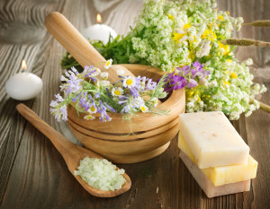 Natural Herbal Products.Spa cosmetics